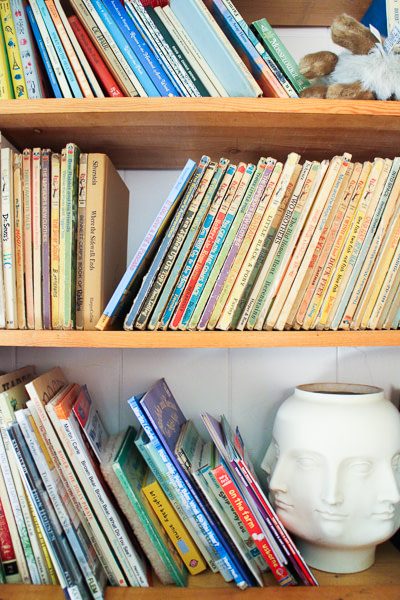 All these books! This is actually just one section. We have a LOT of kids books.
