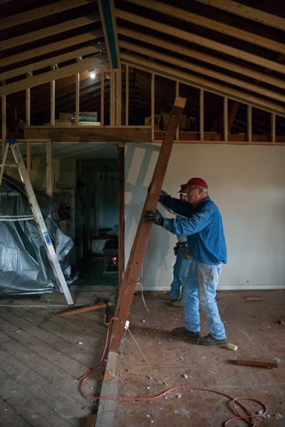 removing load bearing wall remnants truss design