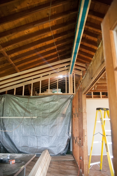 load bearing wall exposed truss design